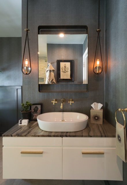 Fx Luminaire Bathroom Transitional with Bronze Fixtures Medicine Cabinet