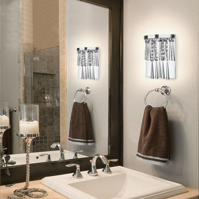 G9 Bulb Bathroom Transitional with Bathroom Chrome Crystal Elegant