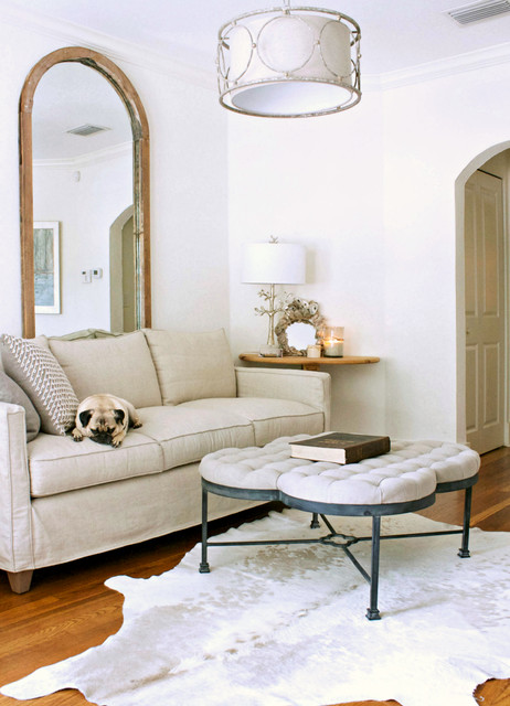 Gabby Furniture Living Room Transitional with Animal Hide Rug Arched