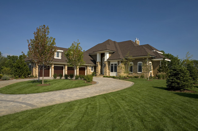 gaf timberline hd Exterior Traditional with circular driveway columns driveway