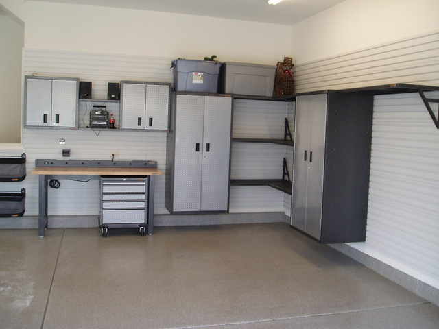Gladiator Cabinets Garage and Shed Traditional with Ball Storage Before And