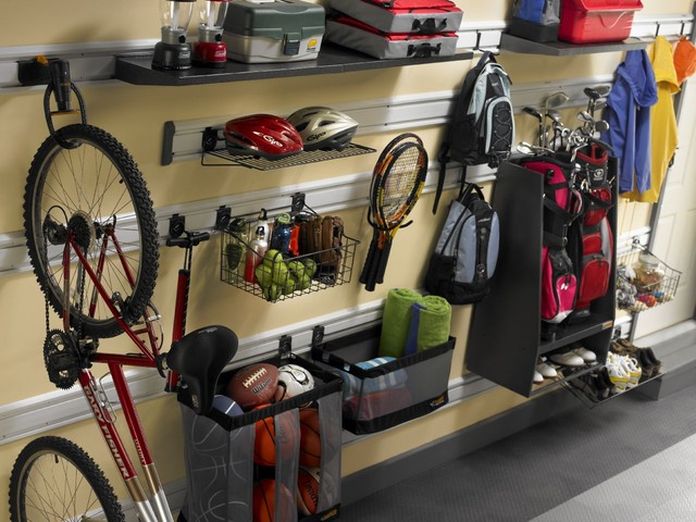 Gladiator Garageworks Garage and Shed Traditional with Geartrack Organization Storage Storage