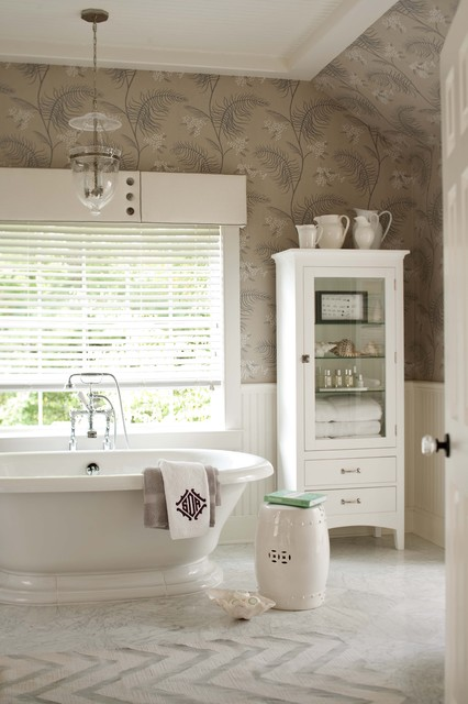 Glass Curio Cabinets Bathroom Transitional with Bead Board Chandelier Curio