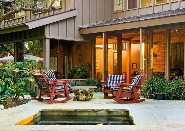 Glider Rocker Chair Patio Traditional with Brown Exterior Brown Siding