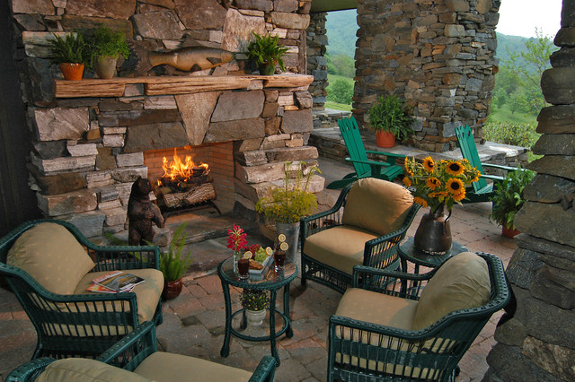 Glider Rocking Chair Patio Rustic with American Rustic Cabin Covered