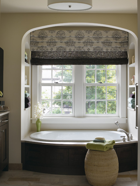 Graber Blinds Bathroom Traditional with Bathroom Built in Shelves