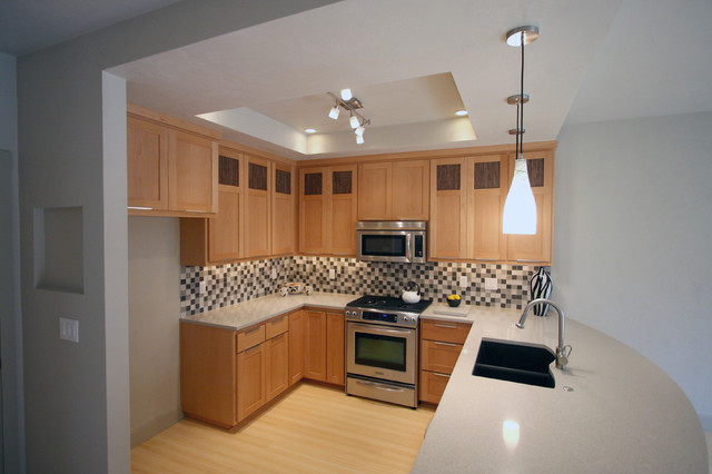 Granite Composite Sinks Kitchen Contemporary with 3 Form Bamboo Floor Breakfast