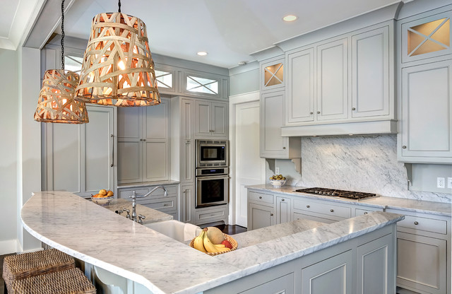 Gray Owl Benjamin Moore Kitchen Traditional with Cooktop Farm Sink Farmhouse