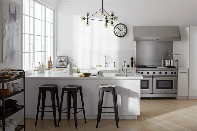 Gray Owl Benjamin Moore Spaces Industrial with Contemeporay Eclectic Eclectic Kitchen