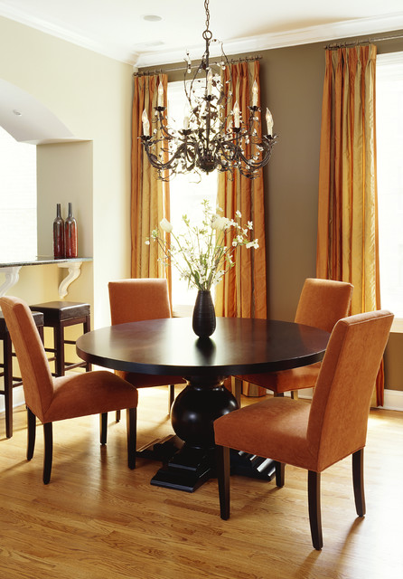greige paint Dining Room Contemporary with accent wall baseboards breakfast
