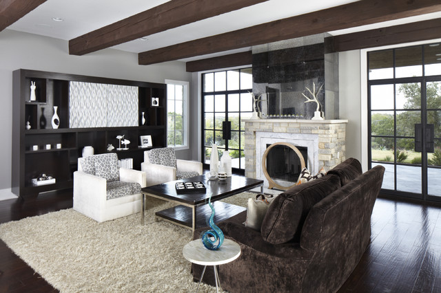 Greige Paint Living Room Contemporary with Categoryliving Roomstylecontemporarylocationaustin