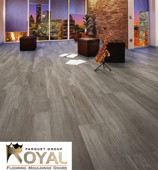 Grey Laminate Flooring Living Room Modern with Brushed Volcanic Sand Grey