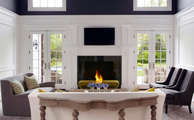 Grey Loveseat Living Room Transitional with Black Fireplace Surround Charcoal1
