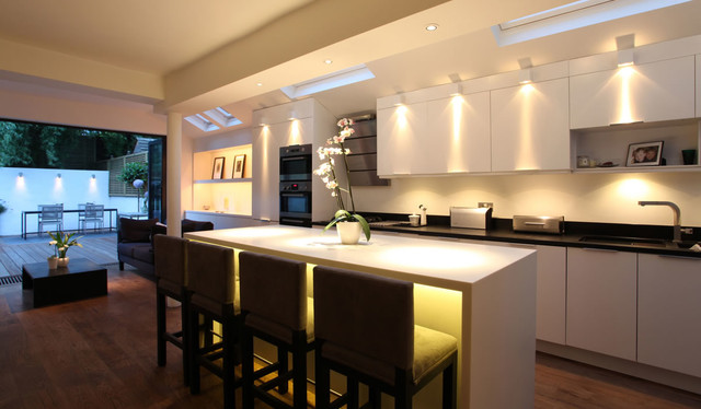 Gu10 Led Bulb Kitchen Contemporary with Categorykitchenstylecontemporarylocationlondon