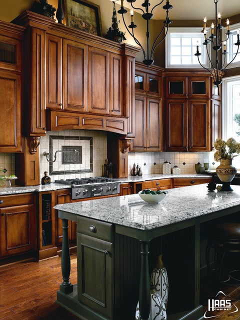 Haas Cabinets Kitchen Traditional with Angled Cabinet Cabinet Column