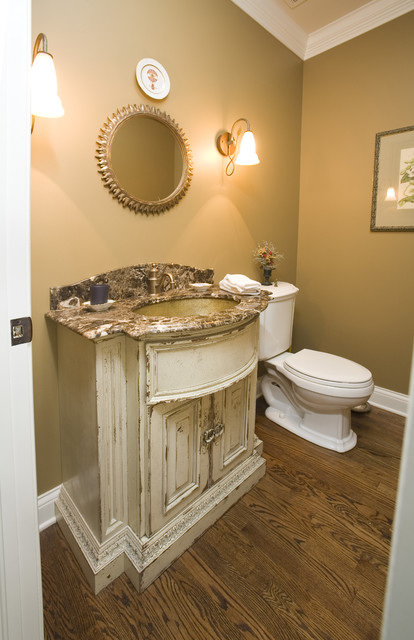 Habersham Furniture Bathroom Rustic with Baseboards Bathroom Mirror Crown