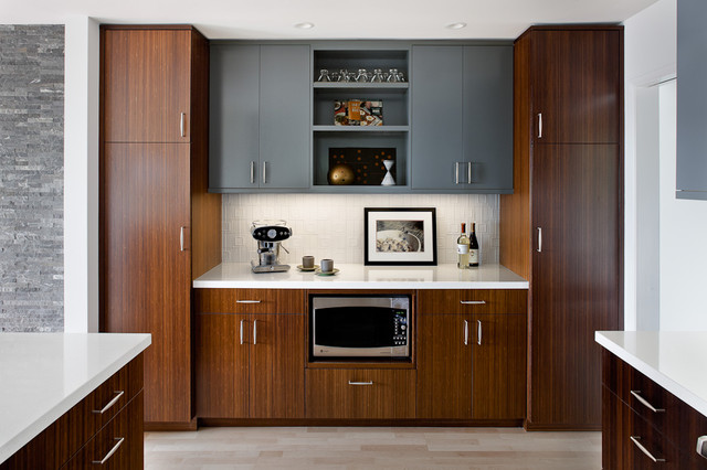 Hafele Hardware Kitchen Modern with Custom Wood Cabinets Gray