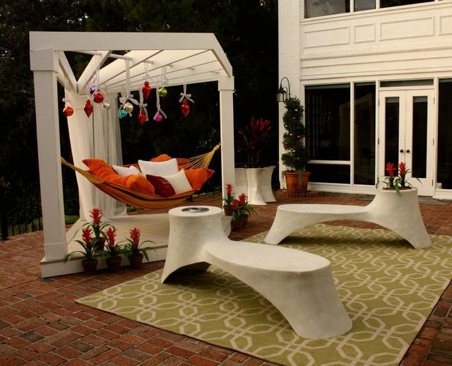 Hammock Frame Patio Contemporary with Bromeliads Hammock Holidays Outdoor