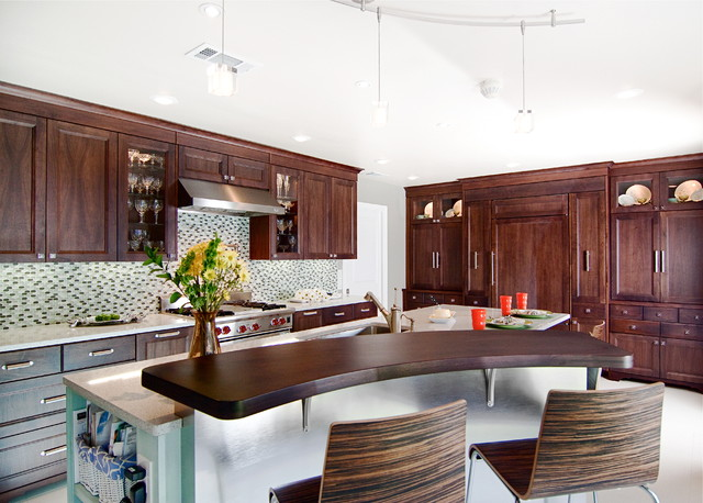 Hampton Bay Track Lighting Kitchen Contemporary with Breakfast Bar Caesarstone Ceiling