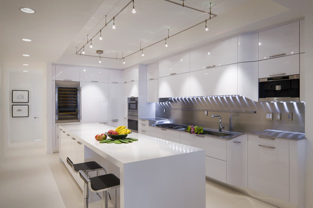 Hampton Bay Track Lighting Kitchen Modern with Accent Lighting Black Barstools