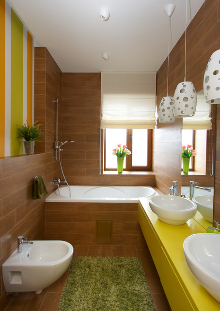 Hand Held Bidet Bathroom Eclectic with Design Design Interiors Green