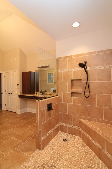 Handicap Showers Bathroom Traditional with Accessible Bath Beige Tile