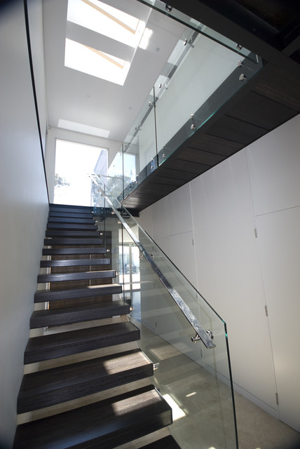 Handrails for Stairs Staircase Modern with Floating Staircase Glass Guardrail