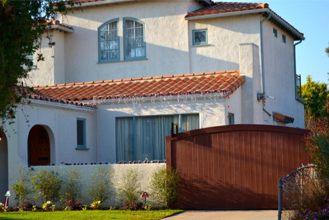 Hardie Plank Entry Traditional with Brentwood Contemporary Culver City