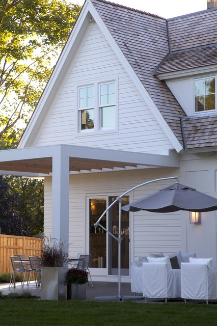 Hardie Plank Siding Patio Contemporary with Container Plants Covered Patio