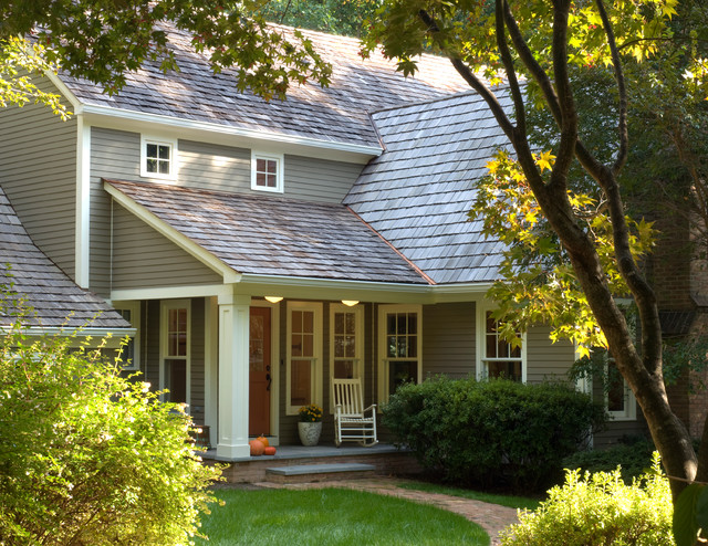 hardiplank Exterior Traditional with brick entry Exterior front