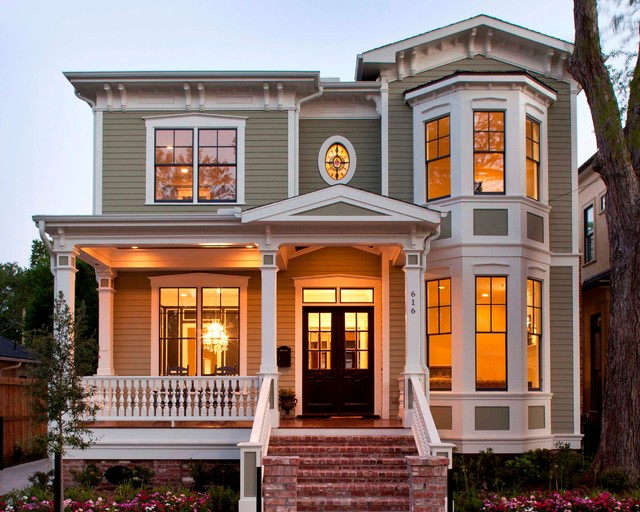 hardiplank Exterior Victorian with address numbers balustrade bay