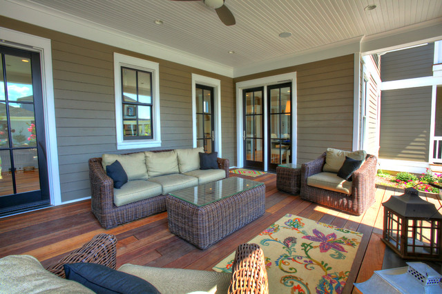 Hardiplank Siding Deck Traditional with Beige Beige Exterior Beige