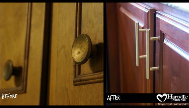 Hartville Hardware Spaces Traditional with Before and After Cabinet