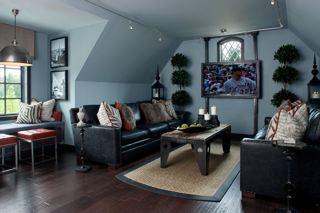 Havertys Sofas Family Room Contemporary with Artwork Black and White