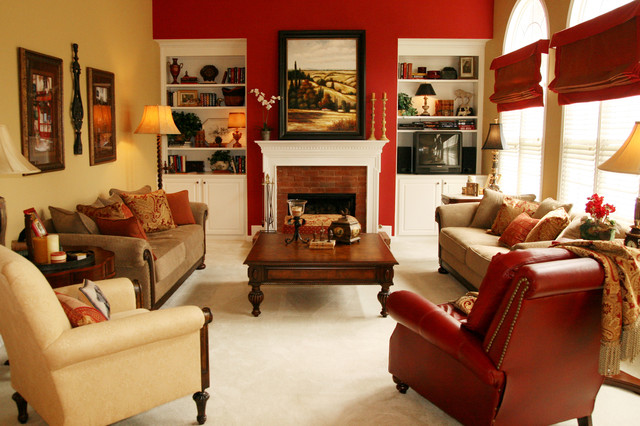 Havertys Sofas Family Room Traditional with Blinds Brick Fireplace Built