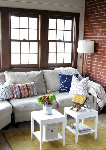 havertys sofas Living Room Shabby-chic with accent tables area rug