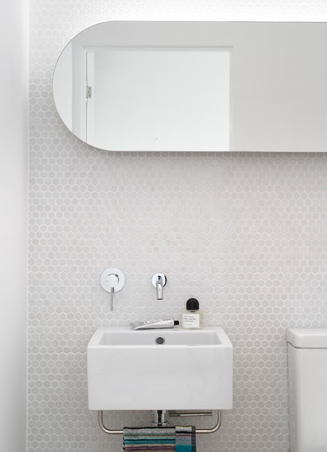 Hexagon Tile Bathroom Contemporary with Bathroom Bathroom Design Cove