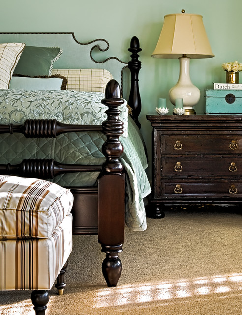 Hickory Chair Furniture Bedroom Traditional with Bed Pillows Bedroom Bedside