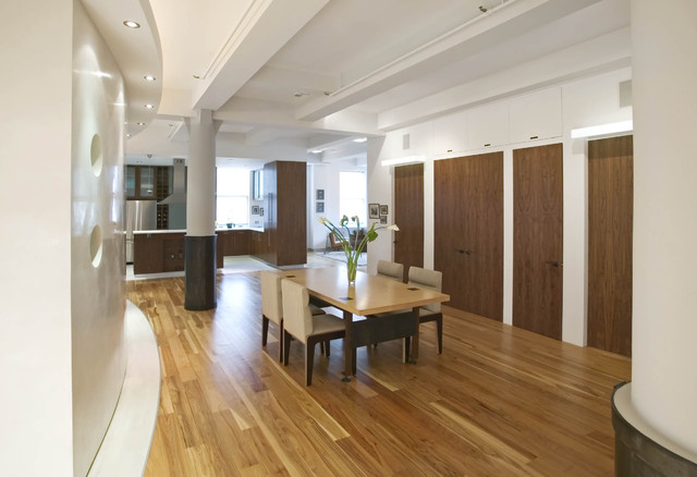 Hickory Hardwood Flooring Dining Room Contemporary with Columns Dining Room Hardwood