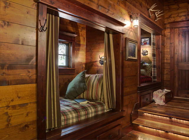 Hideabed Hall Rustic with Alcove Antlers Bed Nook1