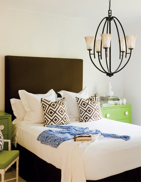 Hinkley Lighting Bedroom Contemporary with Brass Brown Chandelier Geometric