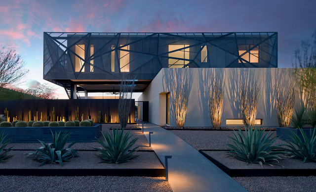Hinkley Lighting Landscape Contemporary with Desert Desert Landscape Entry