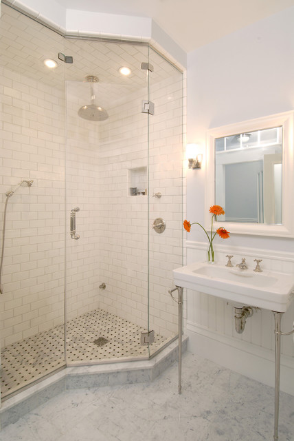 Home Depot Lawrence Ks Bathroom Traditional with Basketweave Tile Console Sink