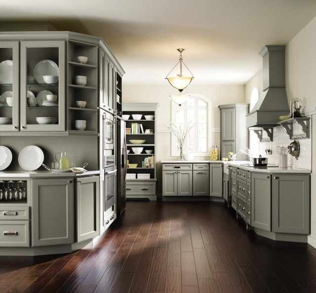 Homecrest Cabinets Kitchen with Beige Walls Cabinet Cabinetry1