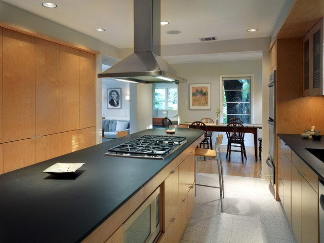 Honed Granite Kitchen Traditional with Absolute Black Granite Breakfast1