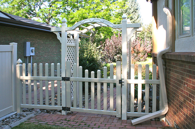 Hoover Fence Patio Traditional with Arbor Hoover Fence Co