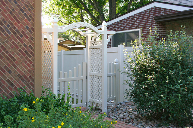 Hoover Fence Patio Traditional with Arbor Hoover Fence Co2