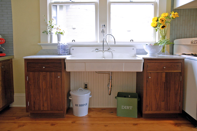 How to Fix Garbage Disposal Kitchen Traditional with Apron Front Sink Apron