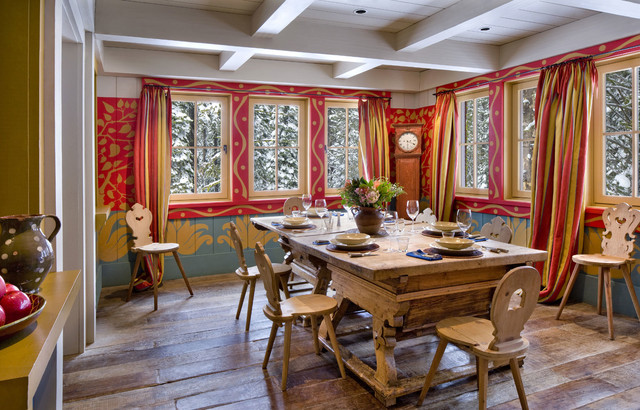 How to Paint Wood Paneling Dining Room Rustic with Breakfast Room Casement Windows