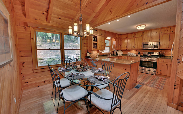 how to paint wood paneling Kitchen Rustic with CEILING LIGHT chandelier Cherry
